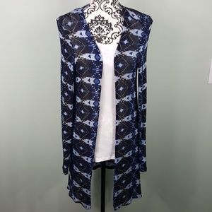 H&M Divided Blue Aztec Cardigan small
